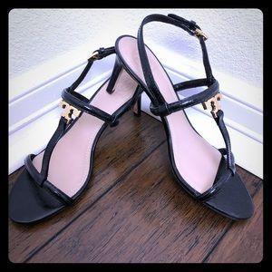 🖤Tory Burch Black w/Gold Heels!